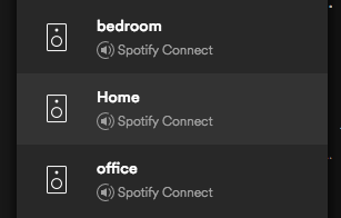 'Home' as a destination in the Spotify app